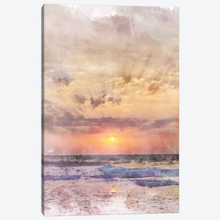 Goa Sunset Travel Poster Canvas Print #NRY69} by Natalie Ryan Canvas Print