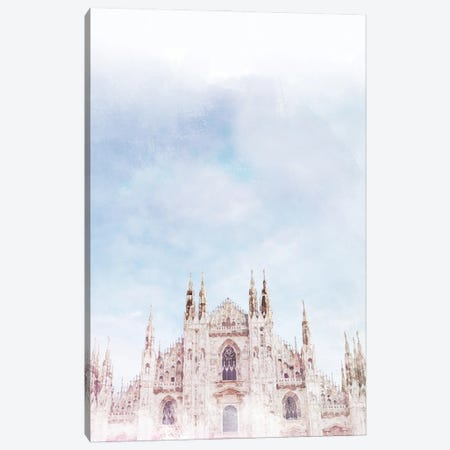 Duomo Milan Travel Poster Canvas Print #NRY70} by Natalie Ryan Canvas Artwork
