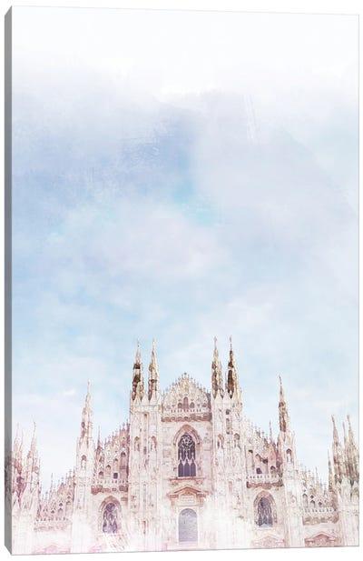 Duomo Milan Travel Poster Canvas Art Print
