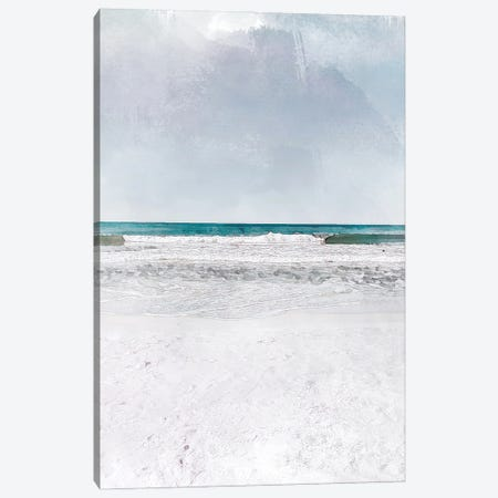 Rolling Waves Travel Poster Canvas Print #NRY71} by Natalie Ryan Canvas Artwork