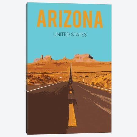 Arizona Travel Poster Canvas Print #NRY76} by Natalie Ryan Art Print