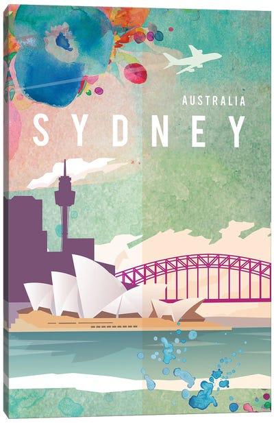 Sydney Travel Poster Canvas Art Print