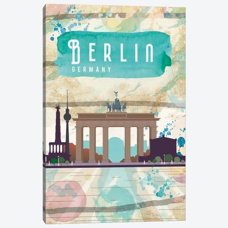 Berlin Travel Poster Canvas Print #NRY80} by Natalie Ryan Canvas Art Print