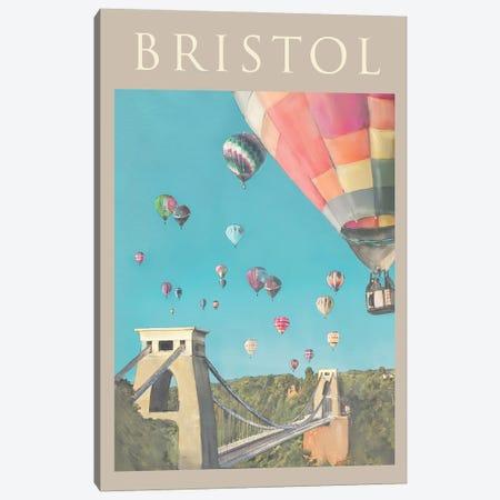 Bristol Travel Poster Canvas Print #NRY84} by Natalie Ryan Canvas Wall Art