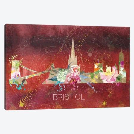 Bristol Skyline Canvas Print #NRY85} by Natalie Ryan Canvas Artwork