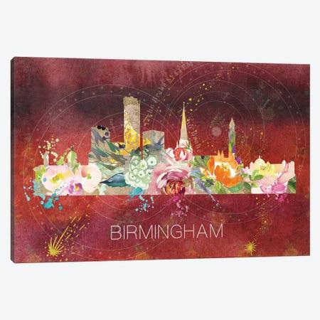Birmingham Skyline Canvas Print #NRY86} by Natalie Ryan Canvas Wall Art