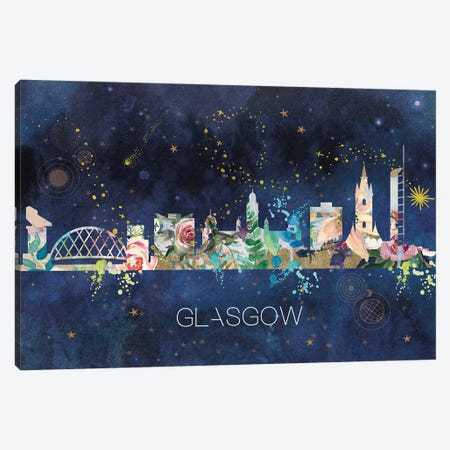 Glasgow Skyline Canvas Print #NRY87} by Natalie Ryan Canvas Art