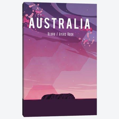 Australia Travel Poster Canvas Print #NRY8} by Natalie Ryan Canvas Art