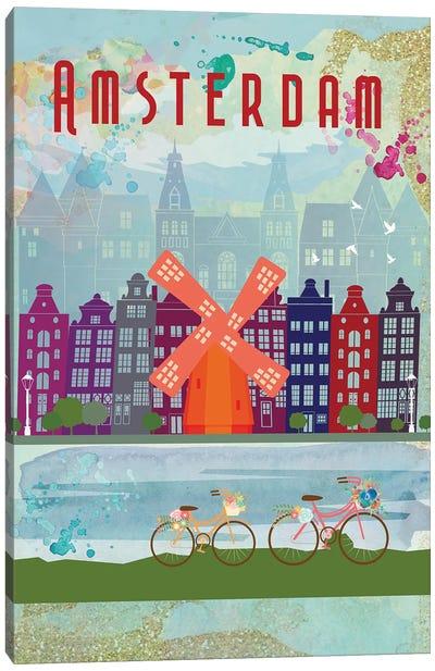 Amsterdam Travel Poster Canvas Art Print