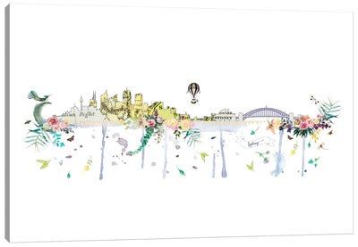 Sydney Collage Skyline Canvas Art Print