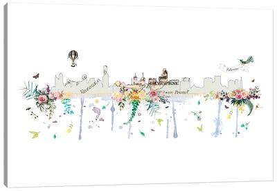 Melbourne Collage Skyline Canvas Art Print