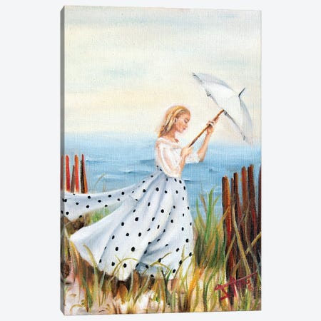 Beach Stroll Canvas Print #NSD11} by Salma Nasreldin Canvas Artwork