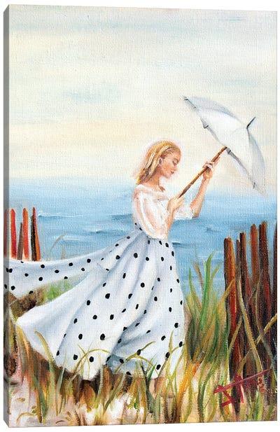 Beach Stroll Canvas Art Print