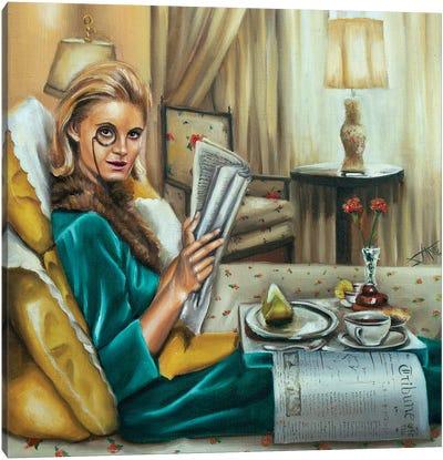 Breakfast In Bed Canvas Art Print