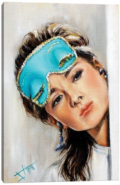 Blue Mask Canvas Art Print