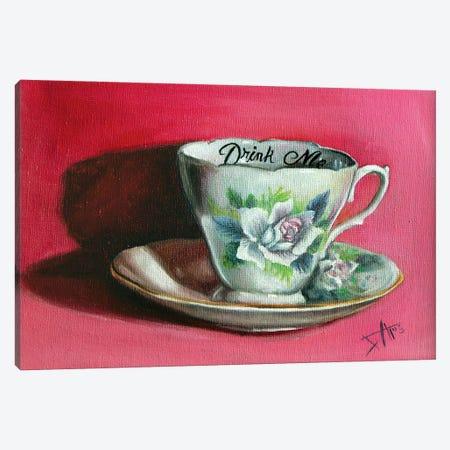 Drink Me Canvas Print #NSD14} by Salma Nasreldin Art Print
