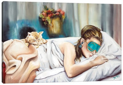 Holly And Cat Canvas Art Print