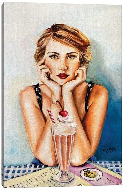 Cherry Sundae Canvas Art Print