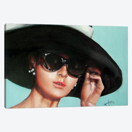 Breakfast At Tiffany'S II Canvas Print #NSD24} by Salma Nasreldin Canvas Wall Art