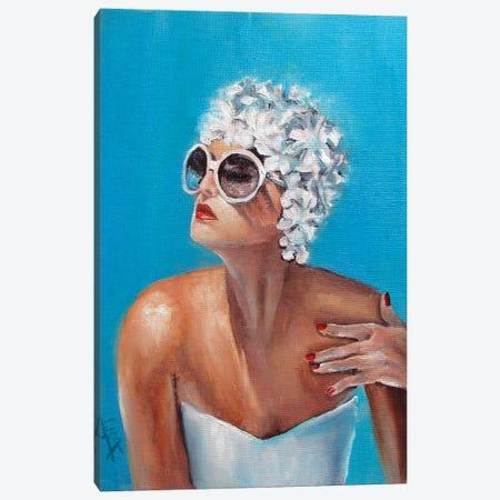 Swim Cap Canvas Print #NSD41} by Salma Nasreldin Canvas Art Print
