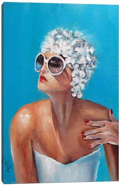 Swim Cap Canvas Art Print