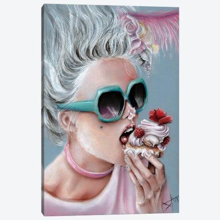 Eat Cake Canvas Print #NSD43} by Salma Nasreldin Art Print