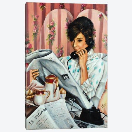 Morning News Canvas Print #NSD4} by Salma Nasreldin Canvas Wall Art