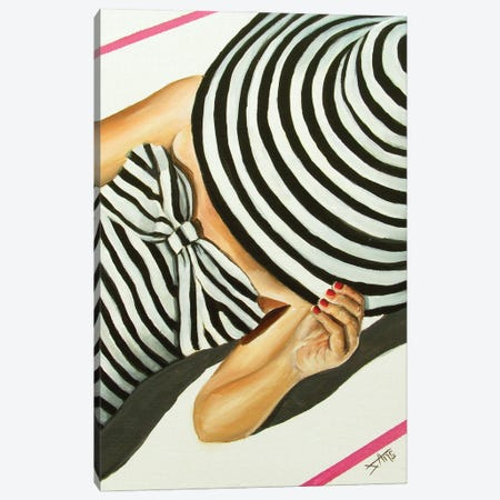 Tan Line /Stripes Canvas Print #NSD71} by Salma Nasreldin Canvas Artwork
