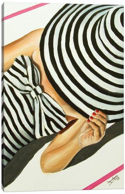 Tan Line /Stripes Canvas Art Print