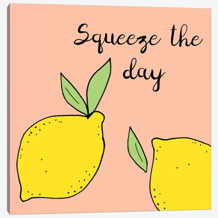 Lemon Squeeze I Canvas Print #NSI1} by Natalie Sizemore Canvas Artwork