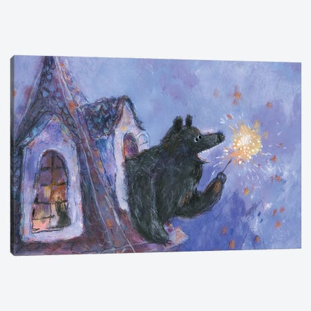 Christmas Eve Canvas Print #NSL12} by Natalia Shaloshvili Canvas Wall Art
