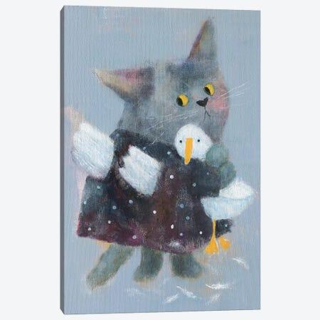 Angel Cat In The Dress Canvas Print #NSL2} by Natalia Shaloshvili Art Print