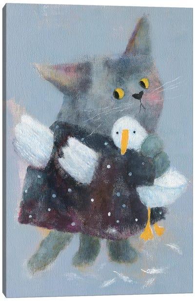 Angel Cat In The Dress Canvas Art Print