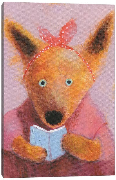 The Fox Reading The Book Canvas Art Print