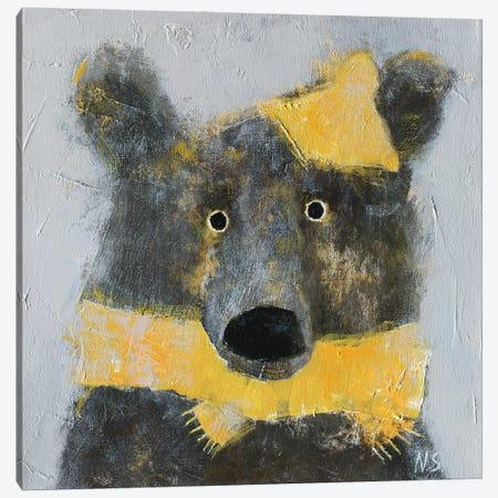 Winter Bear Wearing The Hat Canvas Print #NSL41} by Natalia Shaloshvili Canvas Print