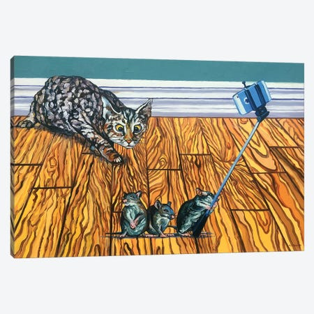 Three Blind Mice Canvas Print #NSM28} by Mark Nesmith Canvas Wall Art