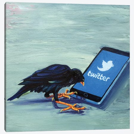 Tweet! Tweet! (Twittering Machine) Canvas Print #NSM32} by Mark Nesmith Canvas Print