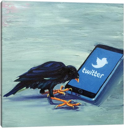 Tweet! Tweet! (Twittering Machine) Canvas Art Print