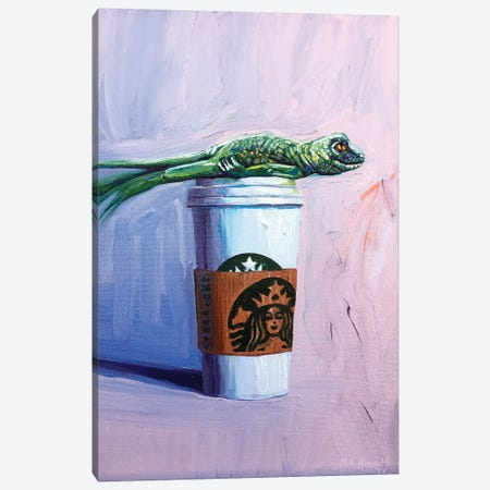 Venti Plank with Lizard Canvas Print #NSM34} by Mark Nesmith Canvas Artwork