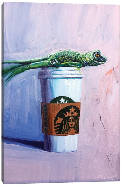 Venti Plank with Lizard Canvas Art Print