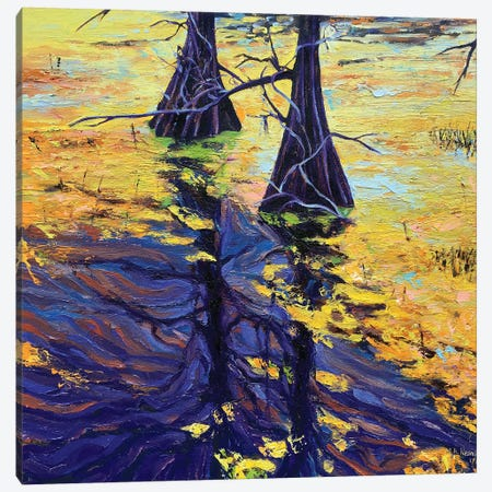 Swamp Sisters Canvas Print #NSM38} by Mark Nesmith Art Print