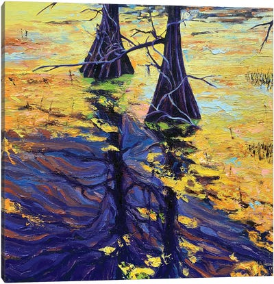 Swamp Sisters Canvas Art Print