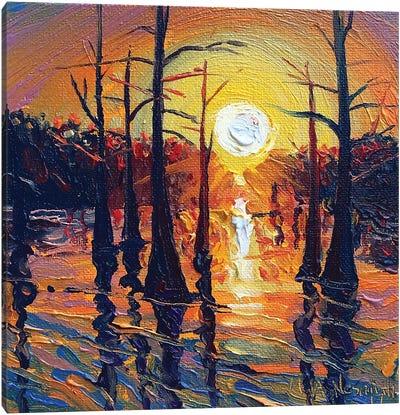 Fire On The Bayou Canvas Art Print