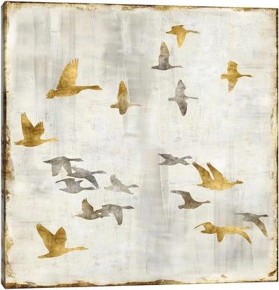 Golden Flight I Canvas Art Print