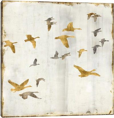 Golden Flight II Canvas Art Print