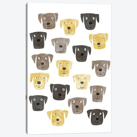 Lots Of Labrador Retriever Dogs Canvas Print #NSQ106} by Nic Squirrell Canvas Print
