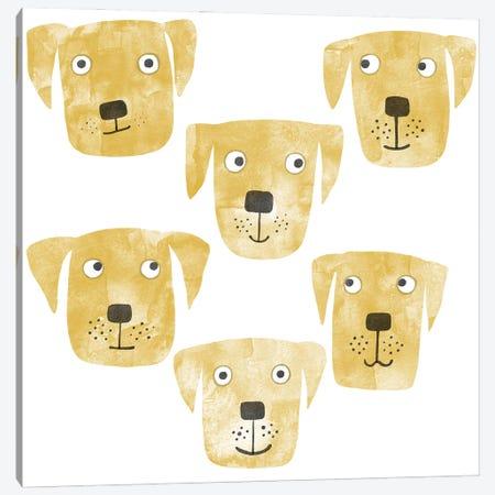 Golden Labrador Retriever Dog Watercolor Canvas Print #NSQ109} by Nic Squirrell Canvas Art