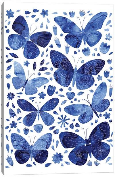 Blue Butterflies Canvas Art Print