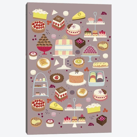 Cakes Canvas Print #NSQ114} by Nic Squirrell Canvas Artwork