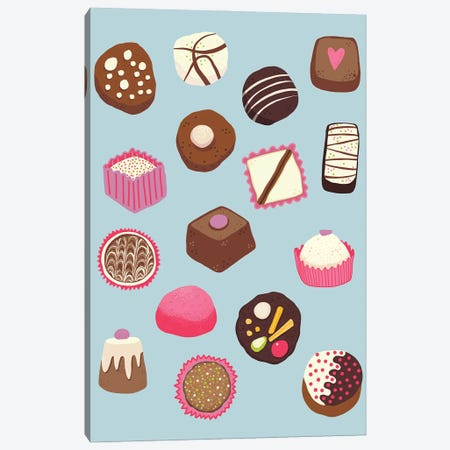 Chocolates And Sweet Treats Canvas Print #NSQ121} by Nic Squirrell Canvas Wall Art